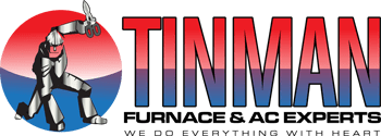 Tinman Logo with Tag Line | Tinman Furnace & AC Experts | Calgary Heating & Air Conditioning