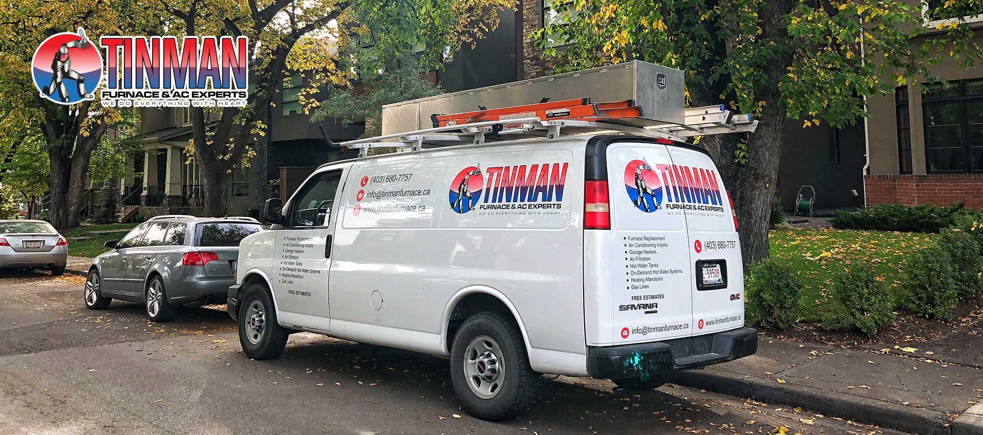 Tinman Furnace Van | Calgary Furnace Heating & Air Conditioning